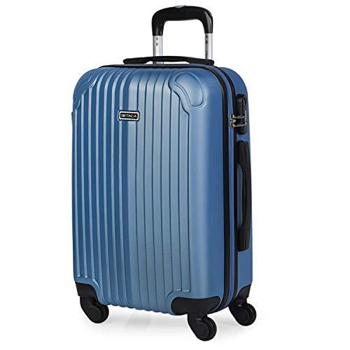 Maleta de Viaje Cabina Rígida 4 Ruedas 55 cm Trolley ABS. Equipaje de Mano. Pequeña Resistente Cómoda y Ligera. Low Cost Ryanair. Estudiante. Calidad y Diseño. T71550, Color azul zafiro