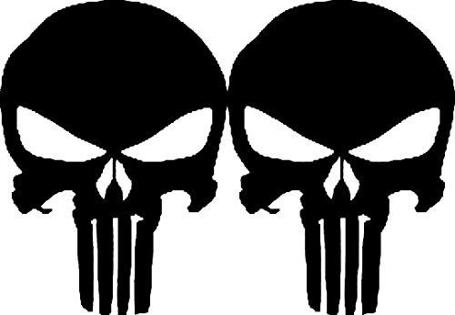 2X Punisher Handy Aufkleber, Sticker, Vinyl, Product (7x5cm) !!!+ Farbwahl (schwarz)