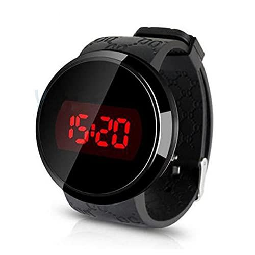 shandianniao Touch-Screen-Uhren Wasserdicht LED Smartwatches Mit Verstellbarem Lederband Elektronischer Armbanduhr Für Herren Geburtstags-Geschenke (Color : B)