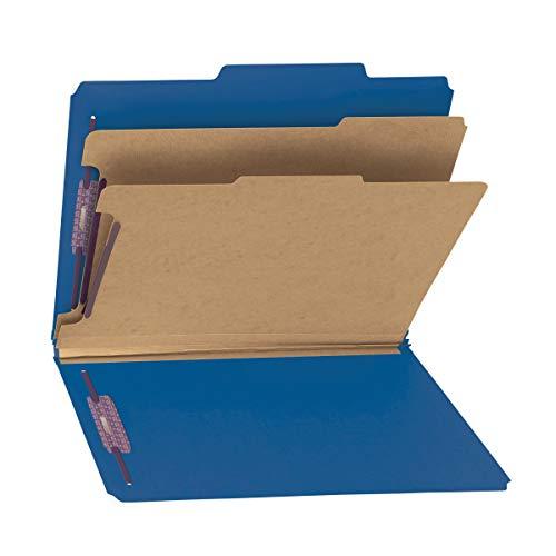 Smead L76033 ® Classification File Folder avec Safeshield® Attaches, 2 diviseurs, 5,1 cm Expansion, Lettre Taille, Bleu foncé, 10 par boîte (14200) Legal noir foncé