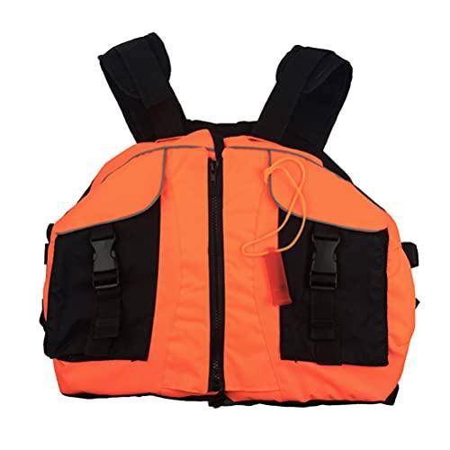 LIMESI Chaleco Salvavidas para Adultos, Traje de flotabilidad súper Flotante, Chaleco de flotabilidad, Chaqueta Flotante Segura, Ayuda de natación Ajustable - Naranja