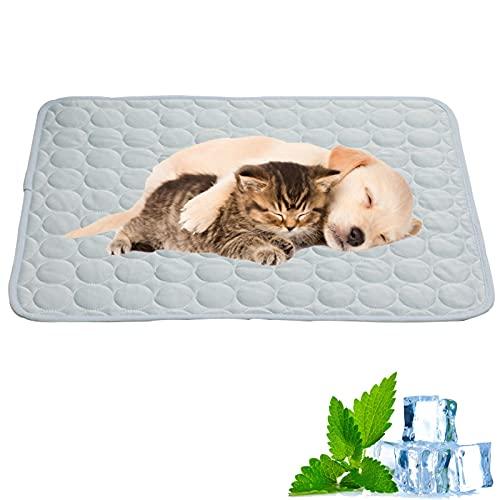 WBias&Belief Alfombrilla de refrigeración para mascotas, para perros, de verano, para dormir y mantener a las mascotas frescas para perrera, sofá, cama, suelo, asientos de coche, color azul claro, XXL