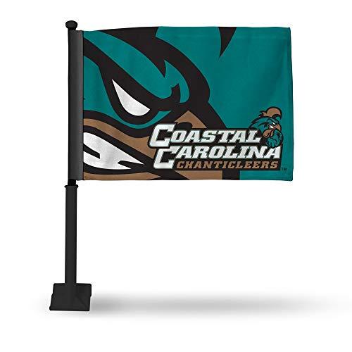 Rico Industries NCAA - Bandera para Coche con Poste Negro, Productos autorizados, Logo Color, 8 x 1