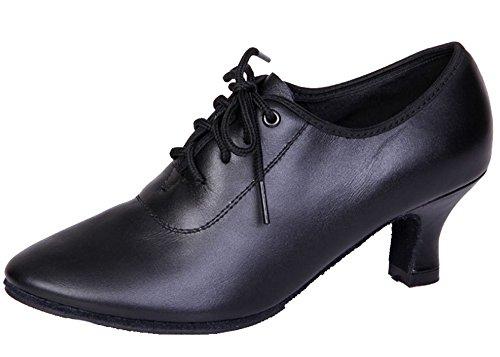 Dayiss Damen Tanzschuhe Latein Leder Standard & Latein mit Absatz Trainer Schuhe (EU 36)