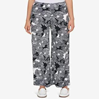 Tommy Hilfiger Printed Pull-On Pants BlackIvory S