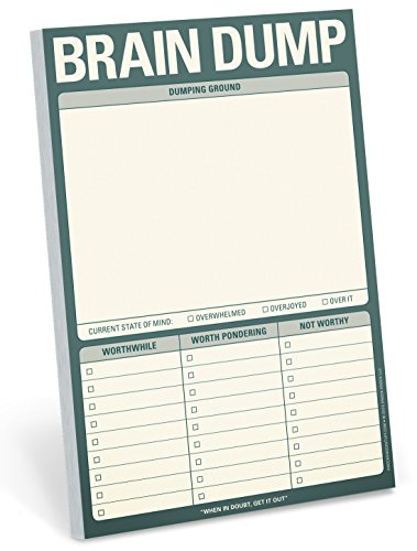 Knock Knock Brain Dump Note Pad, 6 x 9-inches
