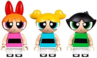 LEGO Power Puff Girls Nickelodeon Minifigures Complete Set - Blossom, Buttercup, & Bubbles