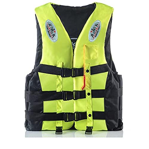 Plus Size Adults Life_Jacket Kayak Aid Vest Swimming Boating Ski Vest,Adults Outdoor Sports Vest Adults Jacket Water Sport Buoyancy Waistcoat (Yellow, XXXL)