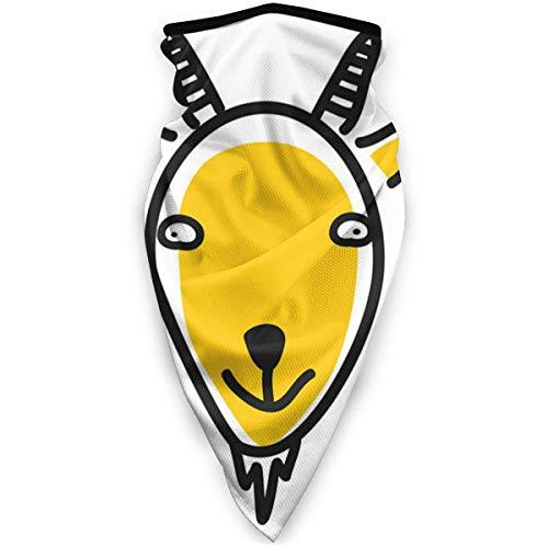 tyutrir Icono de Cabeza de Animal de Dibujos Animados Avatar de Cara de Cabra Headwear, Bufanda, pañuelo, Ancho, Headwrap pasamontañas Tubo Multifuncional