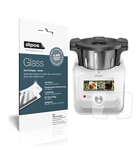 dipos I 2X Pellicola Protettiva Compatibile con Monsieur Cuisine Connect Protezione Vetro Flessibile 9H