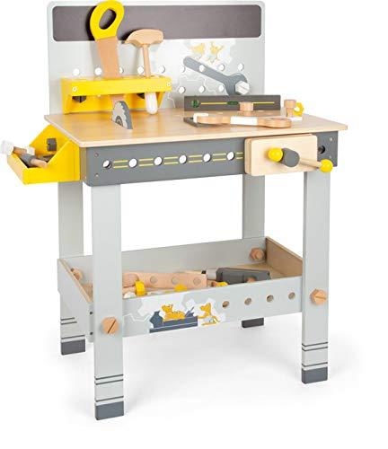 Small Foot 11806 Werkbank Miniwob aus Holz, mit Werkzeug, umfangreichem Zubehör und Schraub-Set, für Kinder ab 3 Jahren Toys