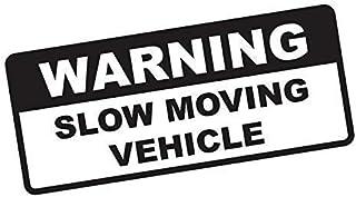 Warning Slow Moving Vehicle Bumper Sticker Vinyl Decal Truck 4x4 Off Road Sticker