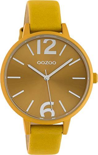 Oozoo Damenuhr mit Lederband 40 MM Colours of Oozoo Unicolor Ocker C10440