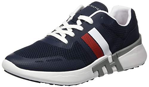 Tommy Hilfiger Herren Lightweight Corporate TH Runner Sneaker, Blau (Desert Sky Dw5), 43 EU