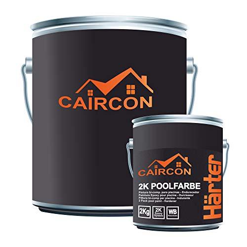 Pittura per piscine in resina epossidica bicomponente cemento calcestruzzo - Bianco perla 20kg