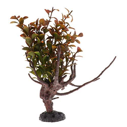 Aiecis Reptilien-Terrarium-Pflanze für Bartagamen, Eidechsen, Geckos, Einsiedlerkrebs, Aquarium-Dekorationen – 1, 2