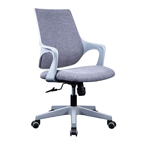 BIAOYU Silla de oficina moderna y minimalista para estudiante, silla de estudio, escritorio, silla giratoria para computadora, para casa, oficina, (color: gris)