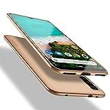X-level für Xiaomi Mi A3 Hülle, [Guardian Serie] Soft Flex Silikon Premium TPU Echtes Handygefühl Handyhülle Schutzhülle Kompatibel mit Xiaomi Mi A3 Hülle Cover - Gold