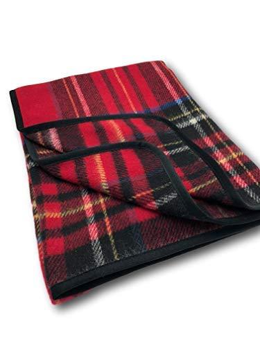 Woll Plaid cuadros escocesa 100% Lana 155x 200cm