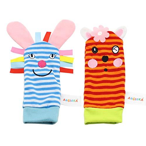 1 calcetines para niños, sonajero de muñeca, sonajeros, buscador de pies, juguetes para bebés, calcetines suaves para buscador de pies, muñecos, sonajeros, juguetes de peluche para recién nacidos