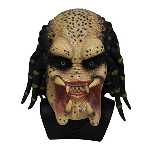 HENGYUTOYMASK Alien skelet roofdier Cosplay Martian Scary Latex Halloween masker