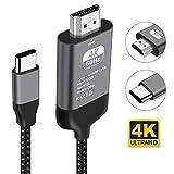 Kdely Câble USB C vers HDMI de 4K@60Hz Nylon Tressé Adaptateur Type C HDMI pour iPad Pro 2020/MacBook Pro/Air/Samsung Galaxy S20 Ultra/S20/S10e/S10/S9/S8/Note 10/9/8, Huawei P40/P30/P20/Mate 30 Pro