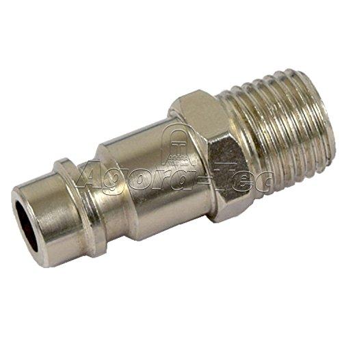 Agora-Tec® Druckluft Schnellkupplung Stecknippel Adapter auf 1/4 Zoll AG Außengewinde für Werkstatt Kompressor