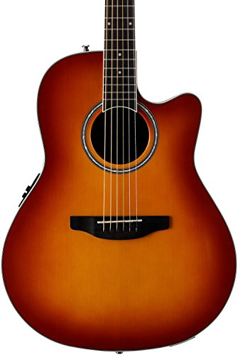 Ovation Applause E-Akustikgitarre AB24II-HB mid Cutaway honey burst