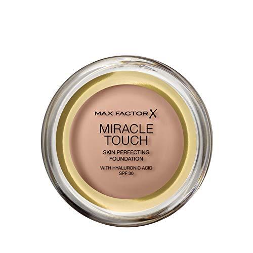 Max Factor Miracle Touch Foundation mit Hyaluronsäure für eine glatte und ebenmäßige Haut, Farbe. 70 Natural dunkle Hauttypen, 1er Pack (1 x 11.5 g)