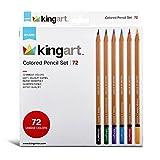 KINGART Set, 72 Pieces Colored Pencils, Assorted