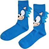ZALA Calcetines 3D Estampados ara Niños,Sonic The Hedgehog Ocasionales Calcetines Divertidos Impresos de Algodón de Cosplay Calcetines,Hasta la rodilla Antideslizante Casual Calcetines