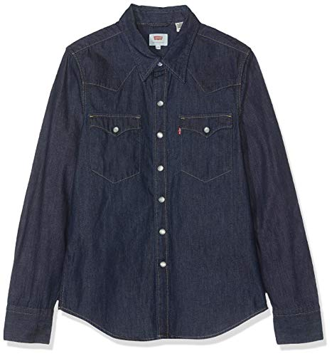 Levi's Barstow Western Camisa vaquera, Azul (Red Cast Rinse 0115), XX-Small para Hombre