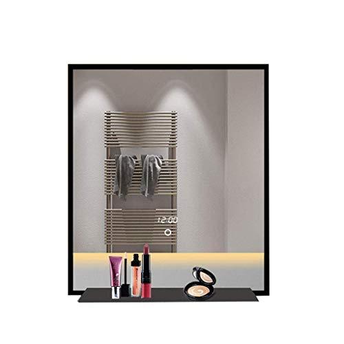 YASEking Espejo de maquillaje LED Espejo de escritorio, Espejo de tocador de madera maciza simple europeo espejo plegable de escritorio de madera HD