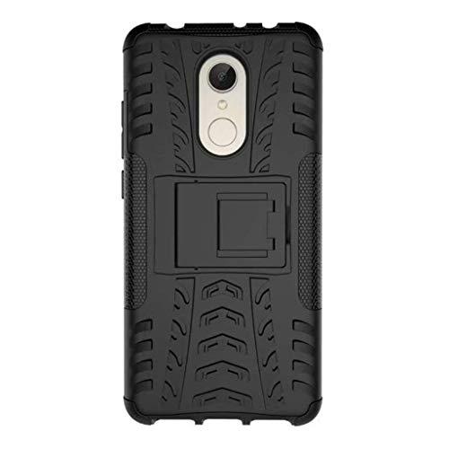 FaLiAng XiaoMi RedMi 5 Funda, 2in1 Armadura Combinación A Prueba de Choques Heavy Duty Escudo Cáscara Dura para XiaoMi RedMi 5 (Negro)