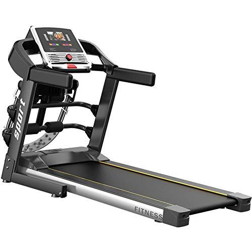 Cinta de correr pleglable, consola con pantalla táctil, 12 km/h, cinta de correr con auto-inclinación, sin ruido, multi-función, velocidad ajustable, ideal para casa y oficina