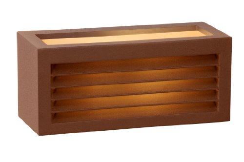 Lucide 27853/01/97 Dimo - Iluminación para Exteriores (Metal, 1 Bombilla IP54 E27, 18 W, 230 V no incluida), Color óxido ✅