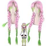 漢字三井コスプレウィッグアニメ魔法のスレイヤー:キメットのヤイバの女性グリーンピンク (Color : PL-594)