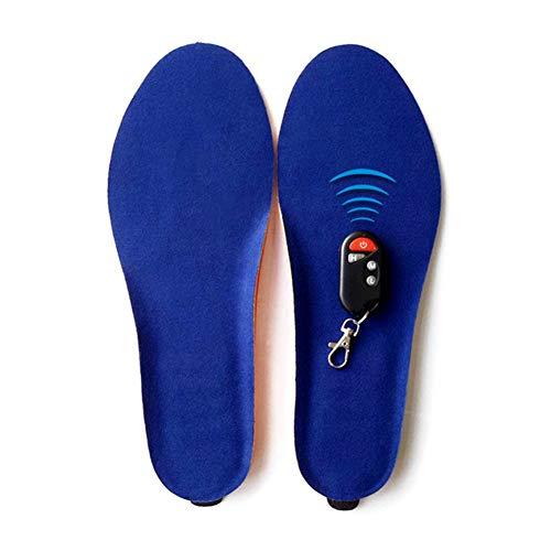 feeilty solette imbottite, solette riscaldabili, solette elettriche, solette riscaldanti per scarpe, scaldapiedi, batteria ricaricabile per l'inverno blu blu 35-40