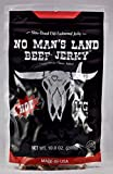 NEW SIZE No Man's Land HOT Beef Jerky High Protein Low Calorie Low Carb Beef Snack 10oz Bag