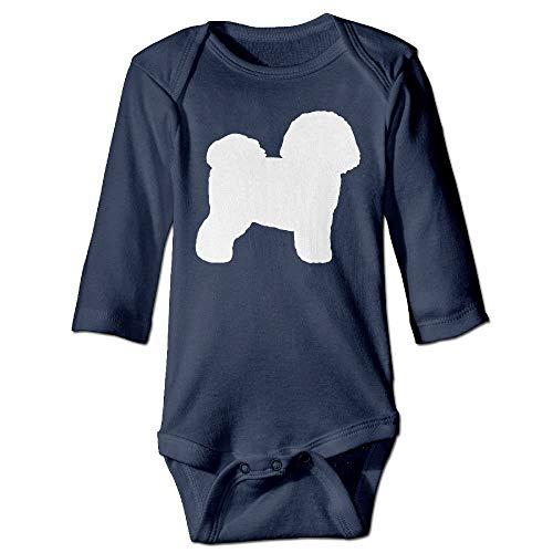 FULIYA Body de manga larga para beb, unisex, para beb, diseo de silueta de Bichon Frise