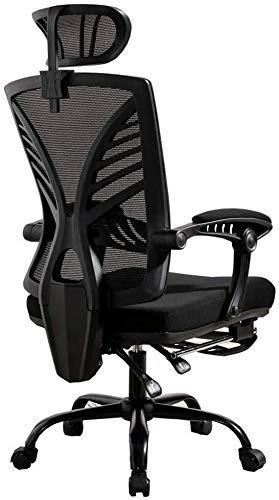 CHHD Bürostuhl, Sessel Stuhl Mesh Drehbarer Bürostuhl mit hoher Rückenlehne 145 & deg;Reclinable Design Executive Chair Verstellbare Kopfstütze Home Gaming Chair mit teleskopischer Fußstütze Lagergew