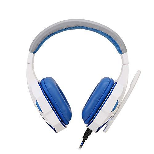 WRISCG LED Gaming Kopfhörer PC Computer |Professioneller 3,5mm Gaming Headset|Stereo Sound Mikrofon mit Rauschunterdrückung und Lautstärkeregler|Egonomisches Design, geringes Gewicht,B
