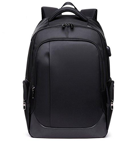 beibao shop Backpack Sacs à Dos pour Ordinateur Portable Respirant et Portable Commerce Casual Épaules Chargement USB Extérieur Multi-Fonctionnel Sac à Dos d'ordinateur, Black