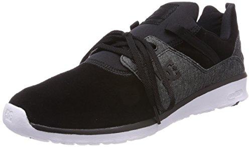 DC Shoes Heathrow SE, Zapatillas Hombre, Negro (Schwarz Wash Bw8), 45 EU