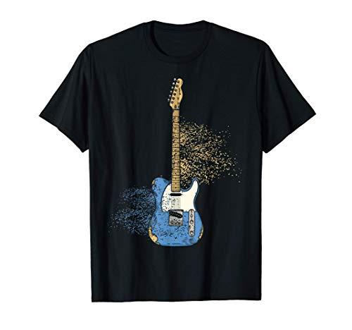 Guitarra Eléctrica Rock Música Instrumento Guitarrista Camiseta