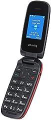 Ushining Teléfono Móvil Libre, Teléfono Móvil para Personas Mayores Teclas Grandes con Tapa Pantalla de 1,8 Pulgadas (Dual SIM, Cámara, Bluetooth, Reproductor MP3) - Negro