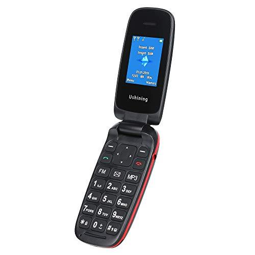 Klapphandy Klein Handlich, GSM Mobiltelefon Mit Großen Tasten Ohne Vertrag Einfach, (1.8 Zoll Farbdisplay, Dual SIM, Lange Akku) Schwarz