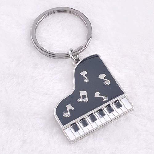 N / C Cartoon Mini Piano Music Notes Auto Schlüsselanhänger Tasche Hangings Decor Keyring Keychain Robust und kostengünstig