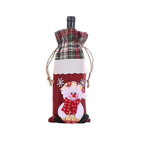 presentimer Funda para botella de vino de Navidad, champán, vino tinto, bolsa de almacenamiento para decoraciones de Navidad, decoraciones de Navidad inteligentes