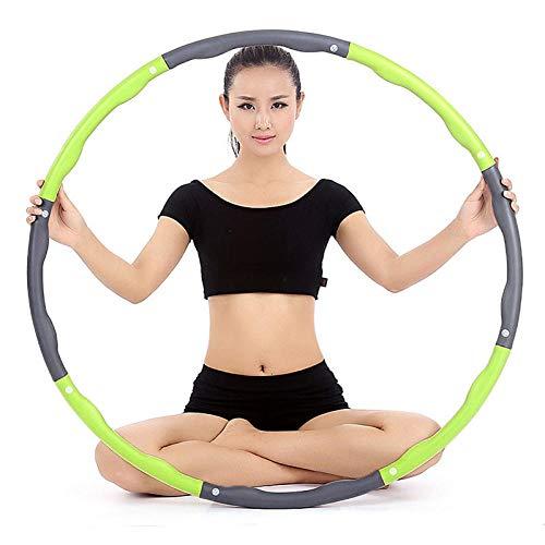 ABDD® Hula Hoop Aro Deportivo extraíble de 8 Partes para Mujer, Equipo de Fitness para Perder Peso, pérdida de Peso, Cintura Fina, Entrenamiento Abdominal, Entrenamiento de Gimnasio Redondo